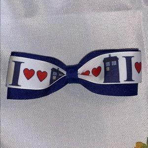 NEW handmade Dr Who Tardis hairbow hair bow clip 1